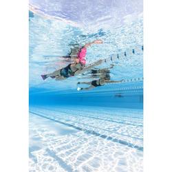 Dames badpak zwemmen Kamiye+ blauw/groen