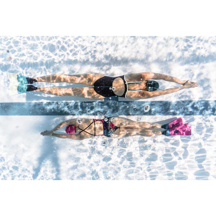 Bañador de natación una pieza mujer, resistente al cloro Jade jun Azul