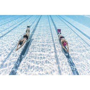 Bañador de natación una pieza para mujer, resistente al cloro Kamiye Azul marino