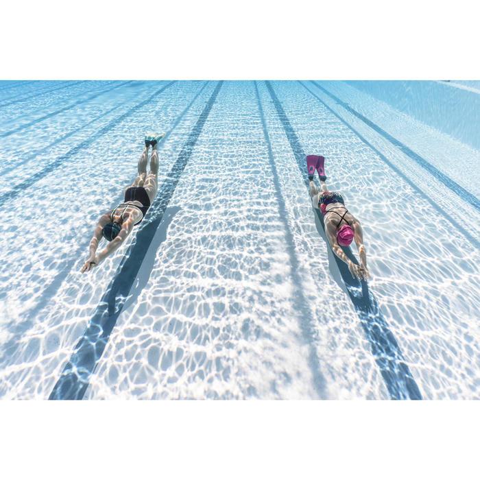 Schwimmflossen 500 Silifins kurz dreifarbig