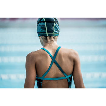Maillot de bain de natation une pièce fille résistant au chlore Jade - 1494002