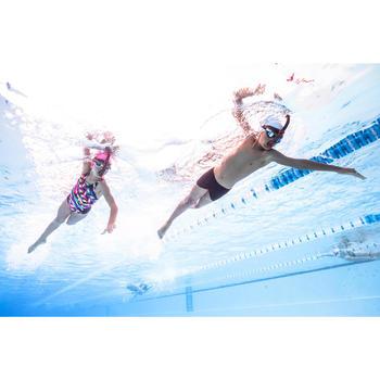 Bañador de natación una pieza para niña, resistente al cloro Kamiye diago