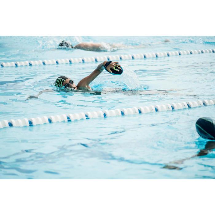 Zwembril 500 Spirit maat S blauw/groen met getinte glazen