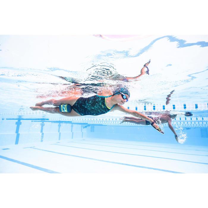 Maillot de bain de natation une pièce fille résistant au chlore Jade stel bleu