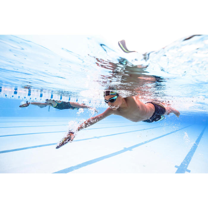 Lunettes de natation 500 SPIRIT Taille S bleu vert verres fumés