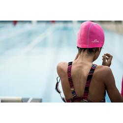 矽膠網眼泳帽500-粉紫色