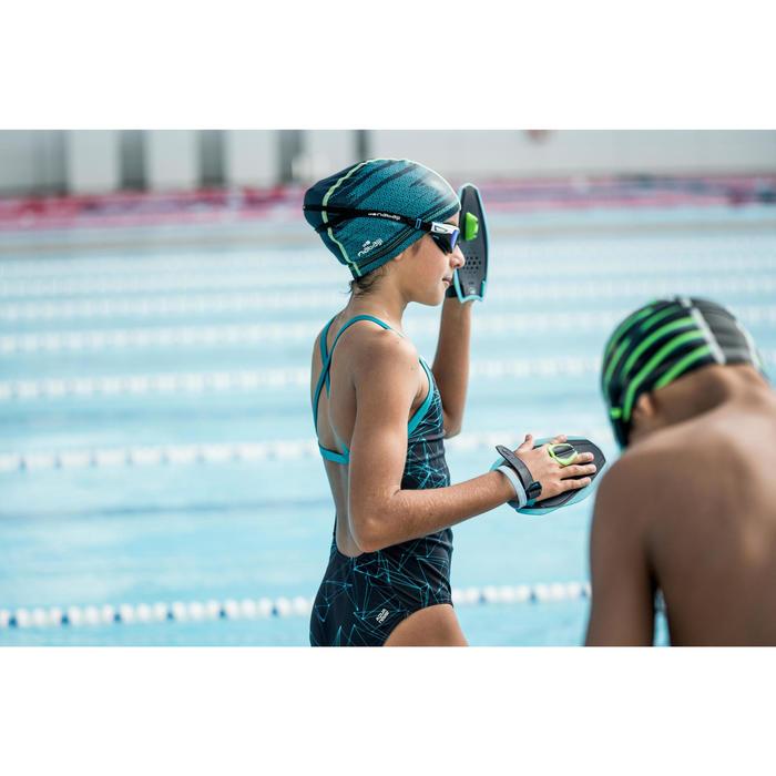 Maillot de bain de natation une pièce fille résistant au chlore Jade - 1494042