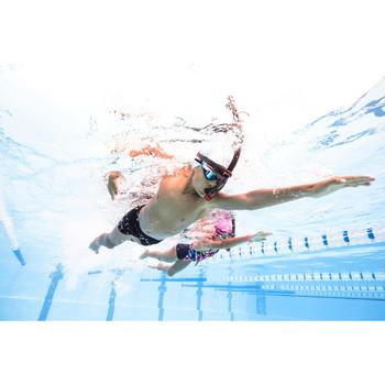Zwemboxer jongens 500 Stab zwart oranje