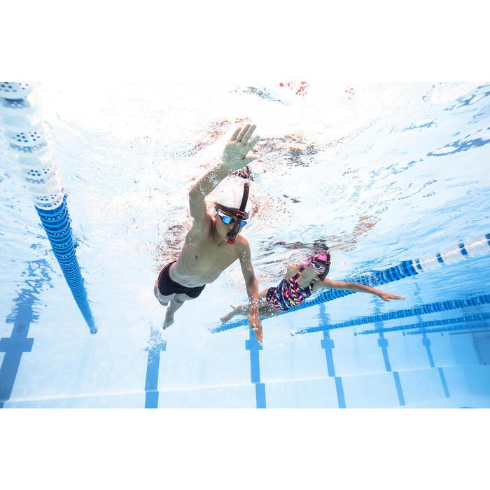 Zwemboxer voor jongens 500 Stab zwart oranje