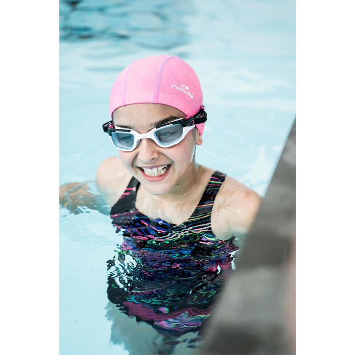 Maillot de bain de natation une pièce fille résistant au chlore Kamiye evoi noir