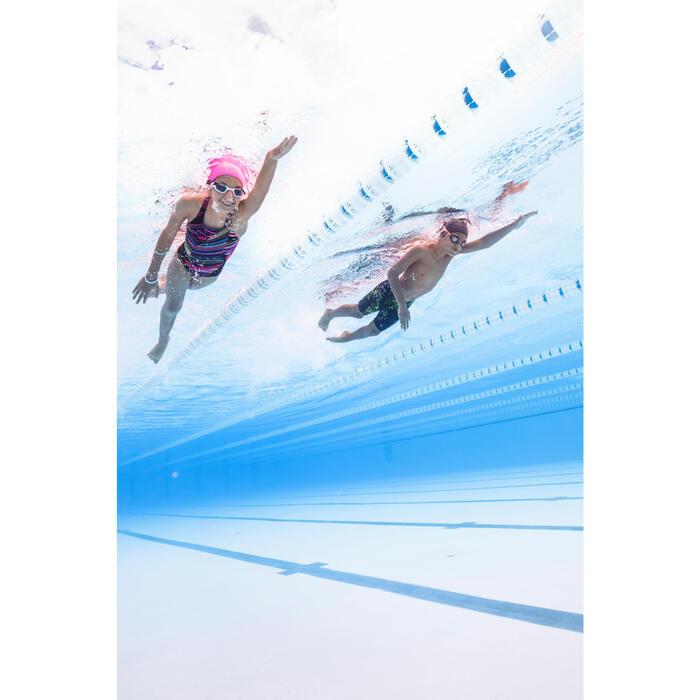 Bañador de natación una pieza para niña resistente al cloro Kamiye evoi Negro