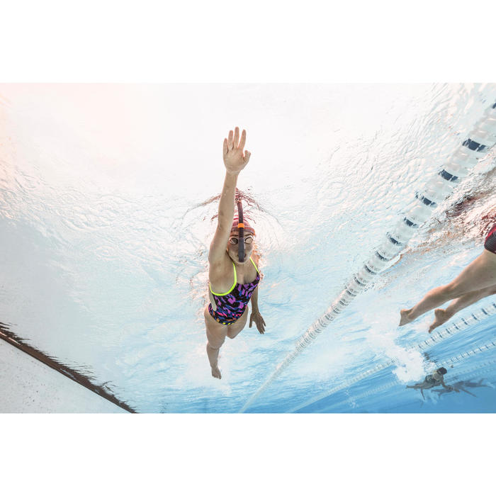 Frontale snorkel zwemmen zwart maat S