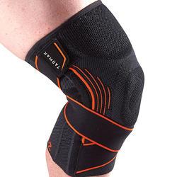 Kniebandage Mid 500 links/rechts Erwachsene schwarz