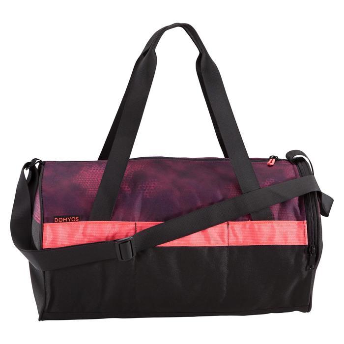 Tas voor fitness en cardiotraining 20 liter zwart en bordeaux