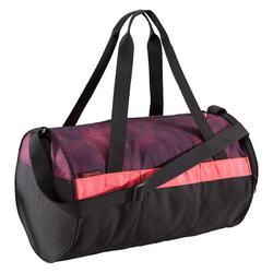 Bolsa de deportes gimnasio Cardio Fitness Domyos 20 litros rosa negro