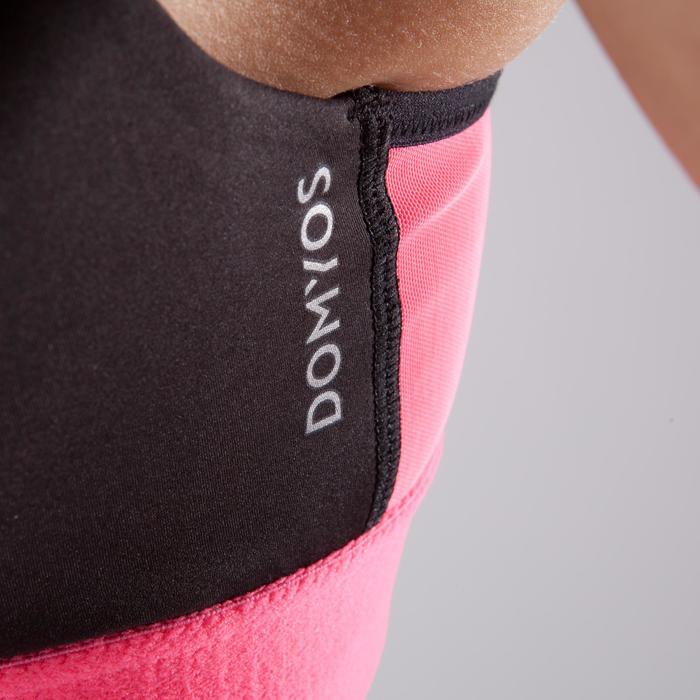 Sujetador-top cremallera fitness cardio-training mujer negro y rosa 900