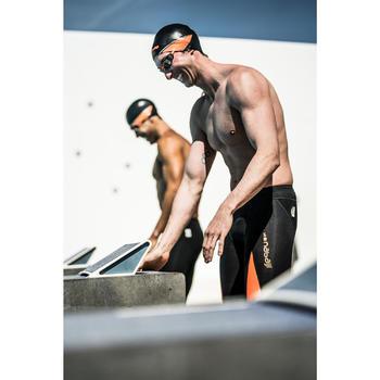Bañador Natación Aguas Abiertas Nabaij Jammer 900 Competición FINA Negro Naranja
