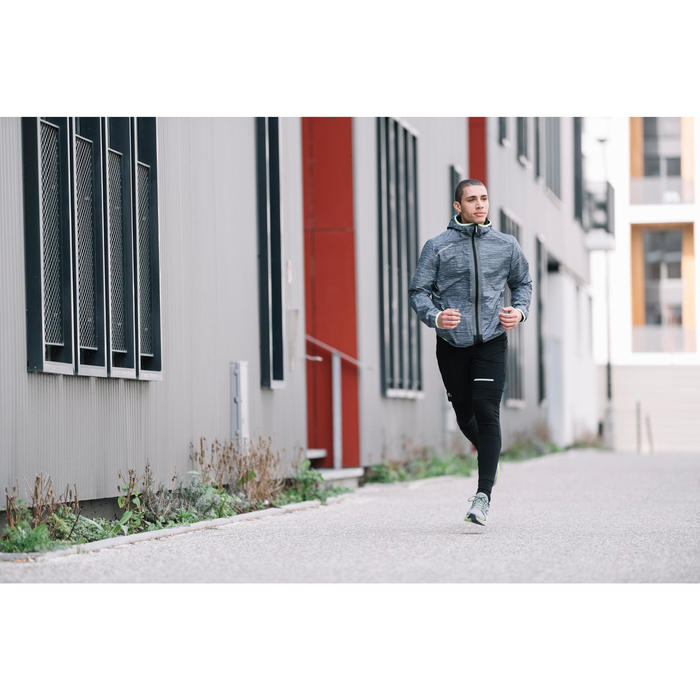 Laufhose lang Tights Run Warm+ Herren schwarz