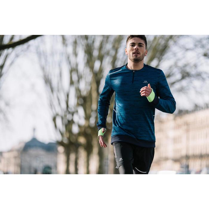Laufshirt Langarm Run Warm+ Herren blau