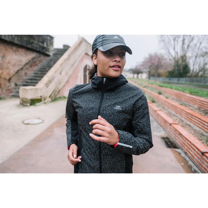 1 Lauf-Regenjacke Run Rain Night Damen schwarz