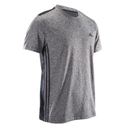 T-Shirt Fitness Douario Herren grau meliert