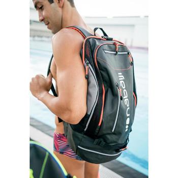 Schwimmrucksack 900 40l schwarz/rot