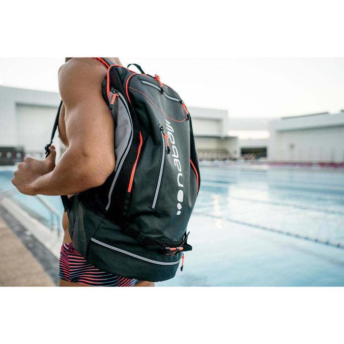 Rugzak voor zwemsport 900 40 liter zwart/fluo-oranje
