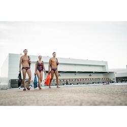 Heren badslippers voor zwemsport Slap 900 zwart/oranje