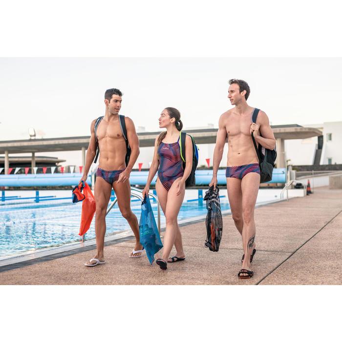Badelatschen Slap 500 Damen marineblau/rosa