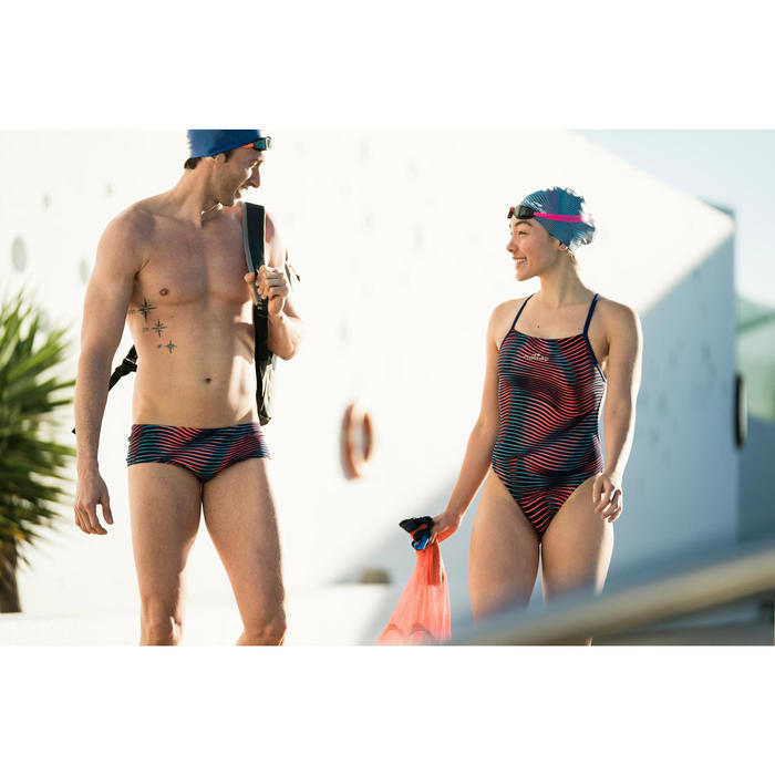 Lunettes de natation B-FAST noir rose - 1494578