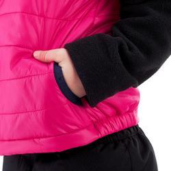 Gewatteerde bodywarmer voor wandelen kinderen MH500 roze 2-6 jaar