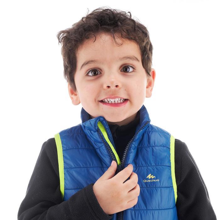 Gewatteerde bodywarmer voor wandelen kinderen MH blauw new sizing