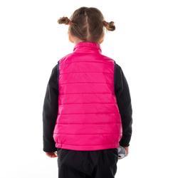 Gewatteerde bodywarmer voor wandelen kinderen MH roze