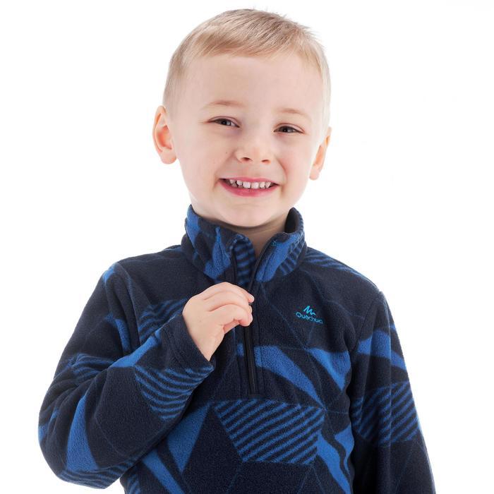 Wandelfleece voor kinderen MH100 blauw print 2-6 jaar