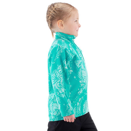 Children's hiking fleece MH120 turquoise