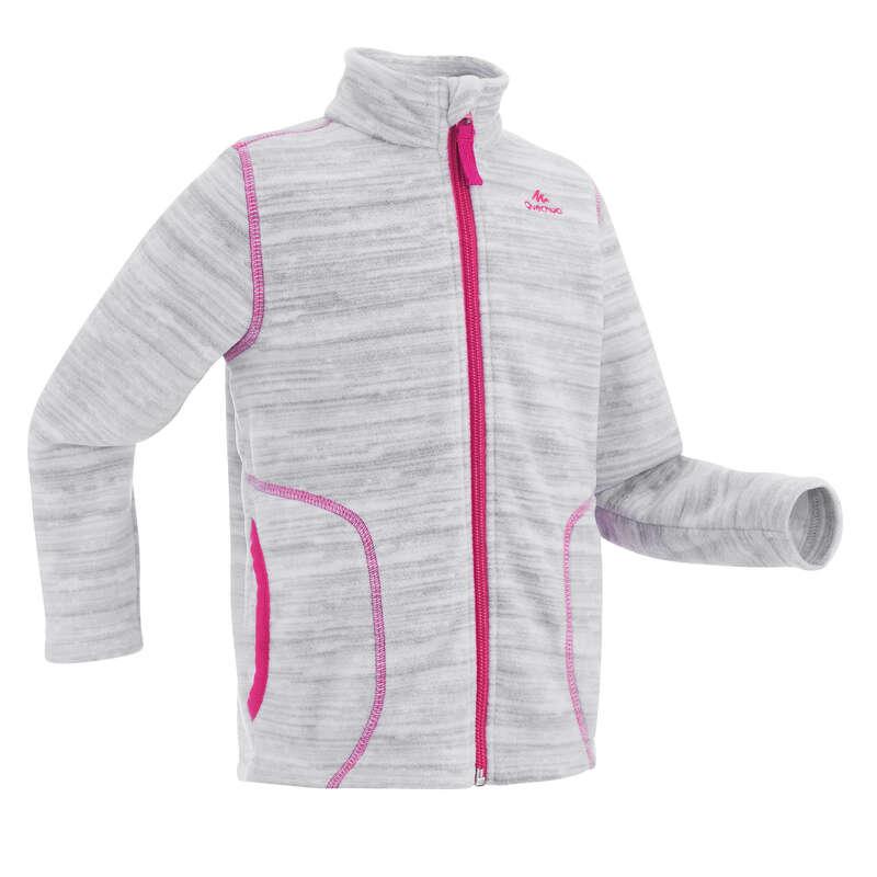 FLEECE PADDED & SOFTHELL JKT BOY 2-6 Y Hiking - Kids' Fleece MH150 - Grey QUECHUA - Hiking Clothes