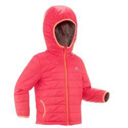 Gewatteerde jas KD MH voor wandelen roze meisjes