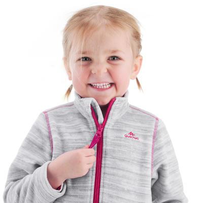 Kids' 2-6 Years Hiking Fleece MH150 - Grey