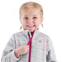 Fleecejacke Wandern MH150 Kleinkinder Mädchen 89–122cm grau