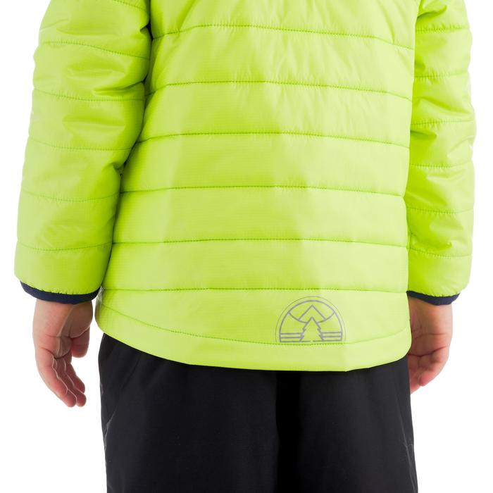 Gewatteerde kinderjas MH voor wandelen groen