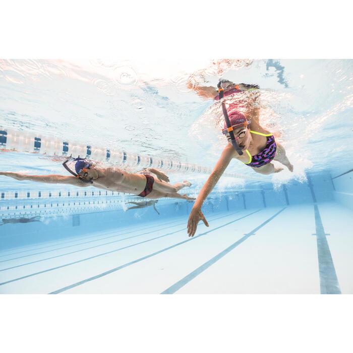 Maillot de bain de natation une pièce femme résistant au chlore Lidia Meda jaune