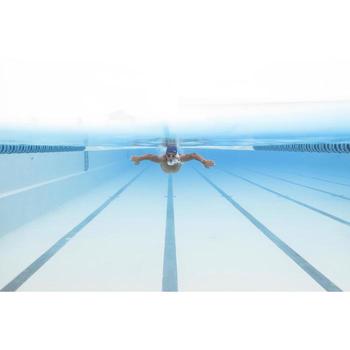 Schwimmbrille getönt 500 B-Fit weiß/schwarz