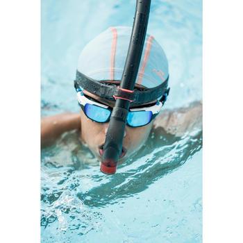 Zwembrilletje Spirit maat S zwart blauw spiegelende glazen