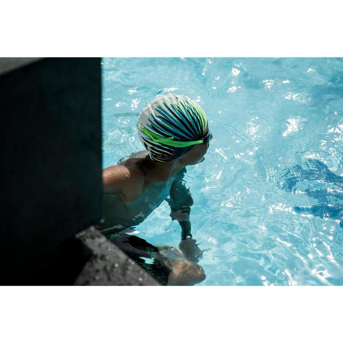Gorro Natación Aguas Abiertas Nabaiji 500 Adulto Silicona Verde Azul Estampado