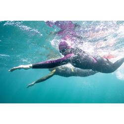 Traje Neopreno Natación Aguas Abiertas Nabaiji OWS 900 4/2 mm Mujer Negro Rosa
