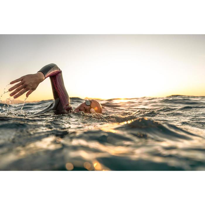 Lunettes de natation B-FIT  noir argent miroir - 1494946
