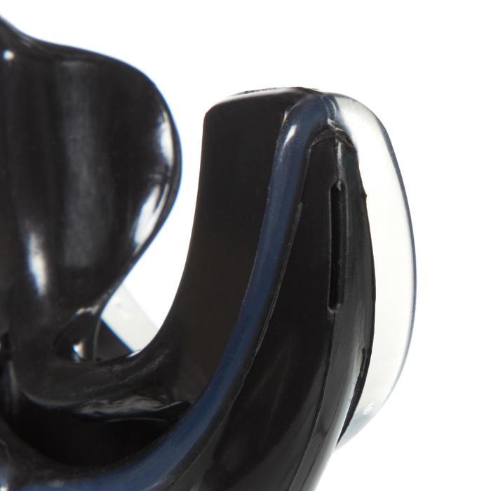 Mondstuk voor ademautomaat voor duiken silicone dubbele dichtheid zwart