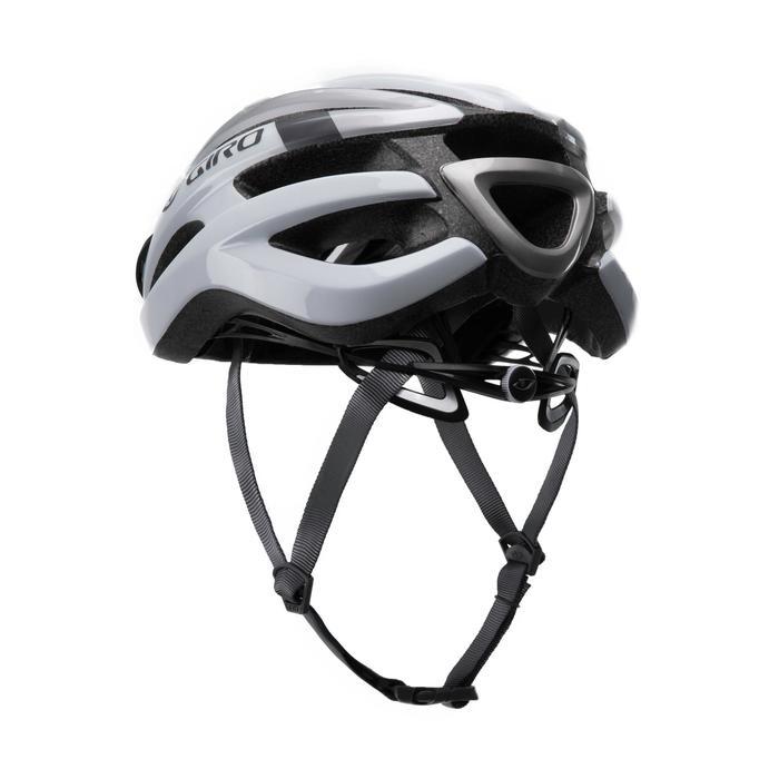 Fahrradhelm Rennrad Giro Angon weiß/grau