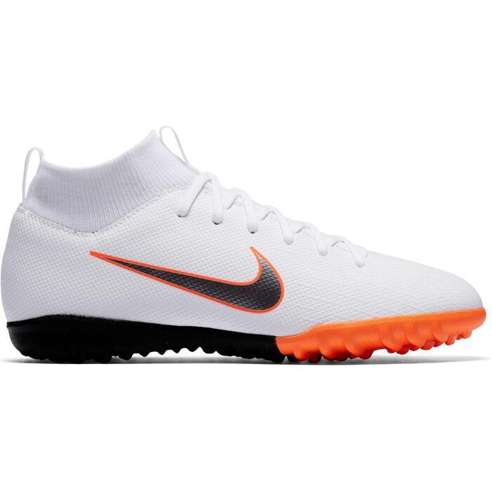 Botas Fútbol Nike Mercurial Superfly 6 Academy TF Niño Blanco Naranja
