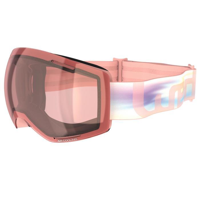 女款與女童惡劣天氣單/雙板滑雪護目鏡 - 粉色
